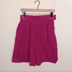 VNTG NWT JOHN HENRY high waisted cotton shorts L